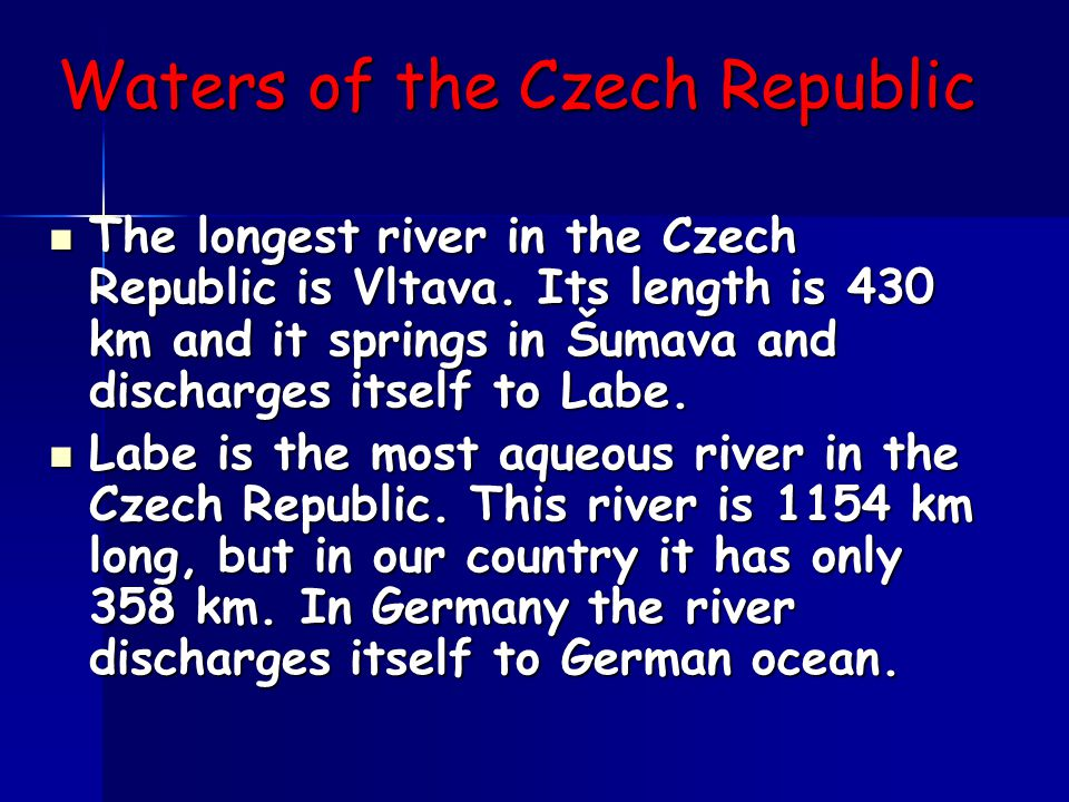 The capital - Prague Here is the capital of the Czech Republic