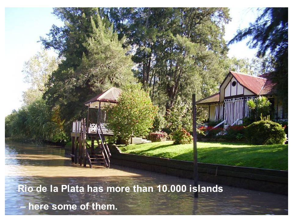 Rio de la Plata has more than 10.000 islands – here some of them.