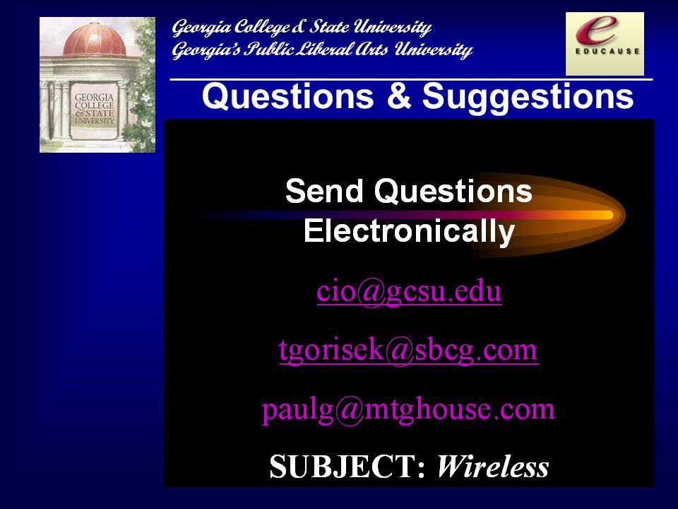 Georgia College & State University Georgias Public Liberal Arts University Questions & Suggestions