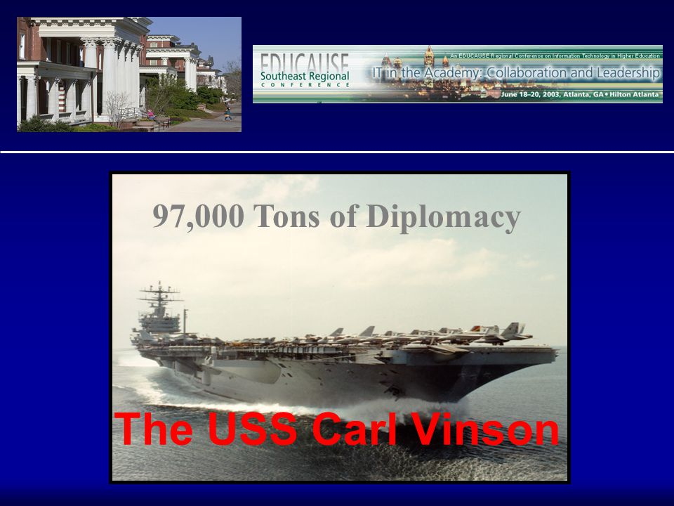 The USS Carl Vinson 97,000 Tons of Diplomacy