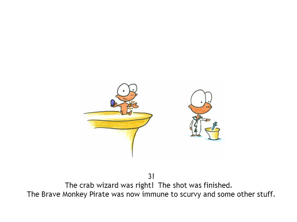 3.The crab wizard was right. The shot was finished.