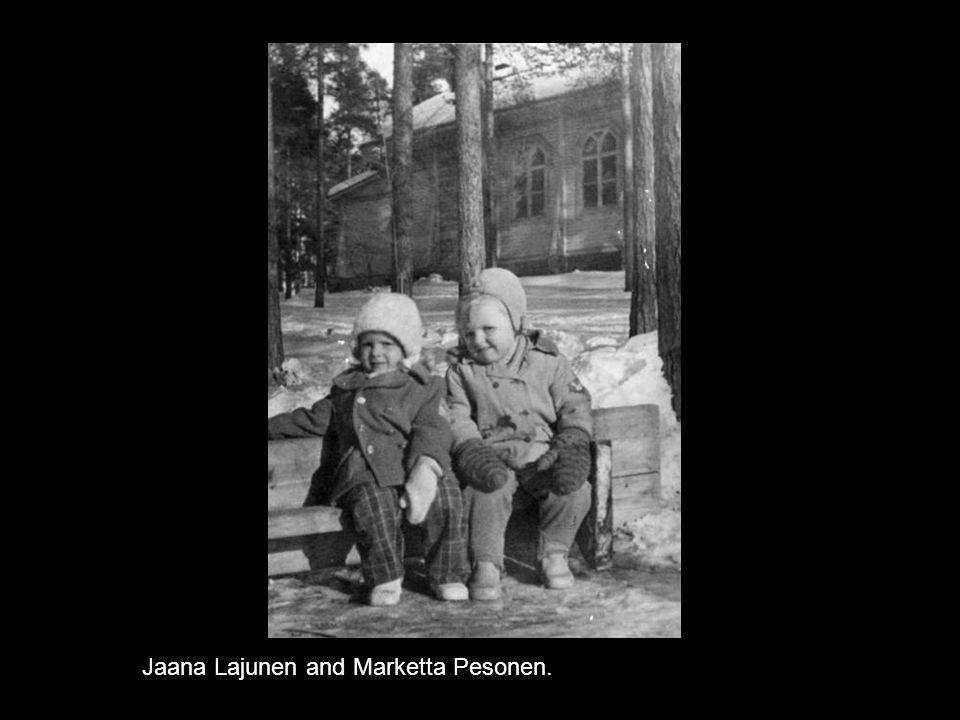 Jaana Lajunen and Marketta Pesonen.