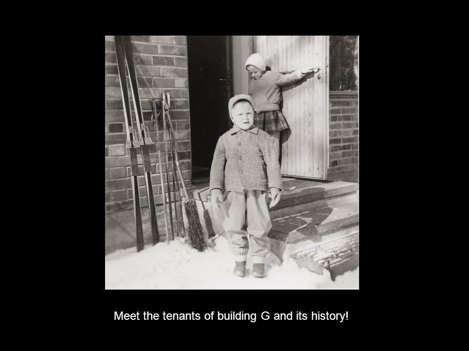 Meet the tenants of building G and its history!