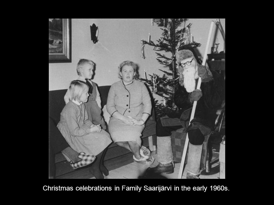 Christmas celebrations in Family Saarijärvi in the early 1960s.