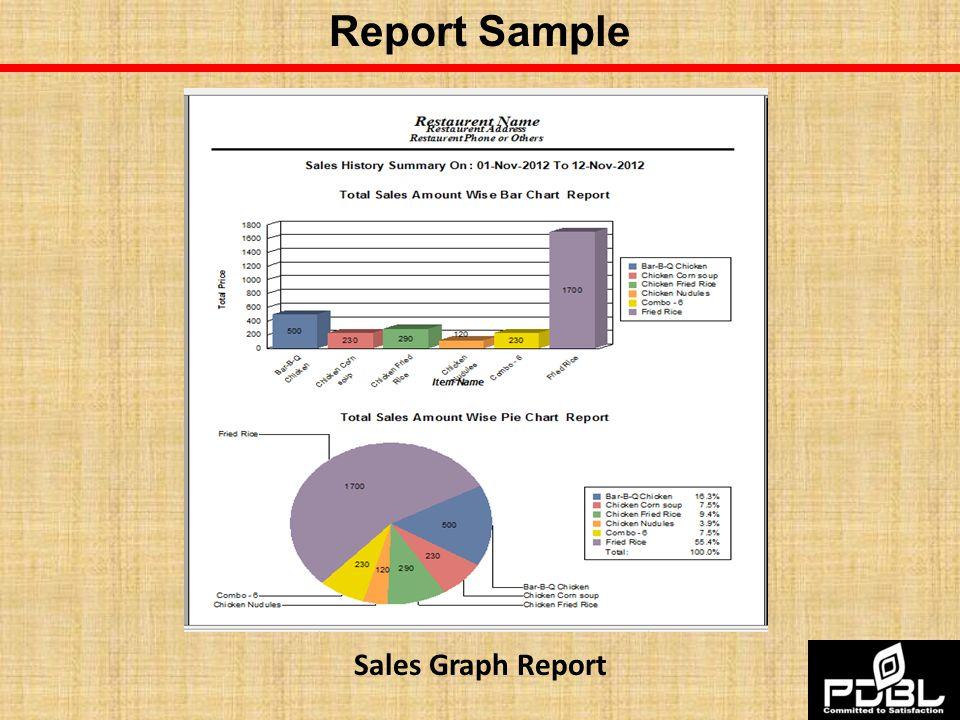 Report Sample Sales Graph Report