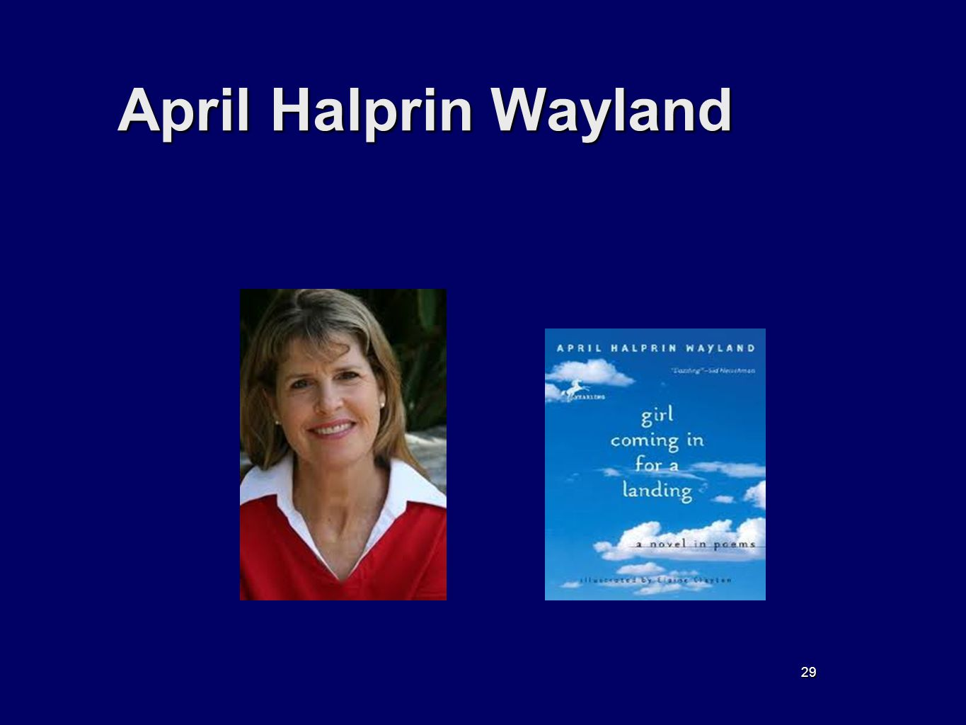 29 April Halprin Wayland