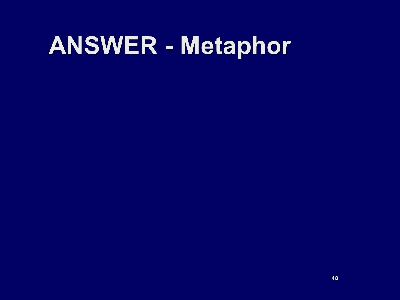 48 ANSWER - Metaphor