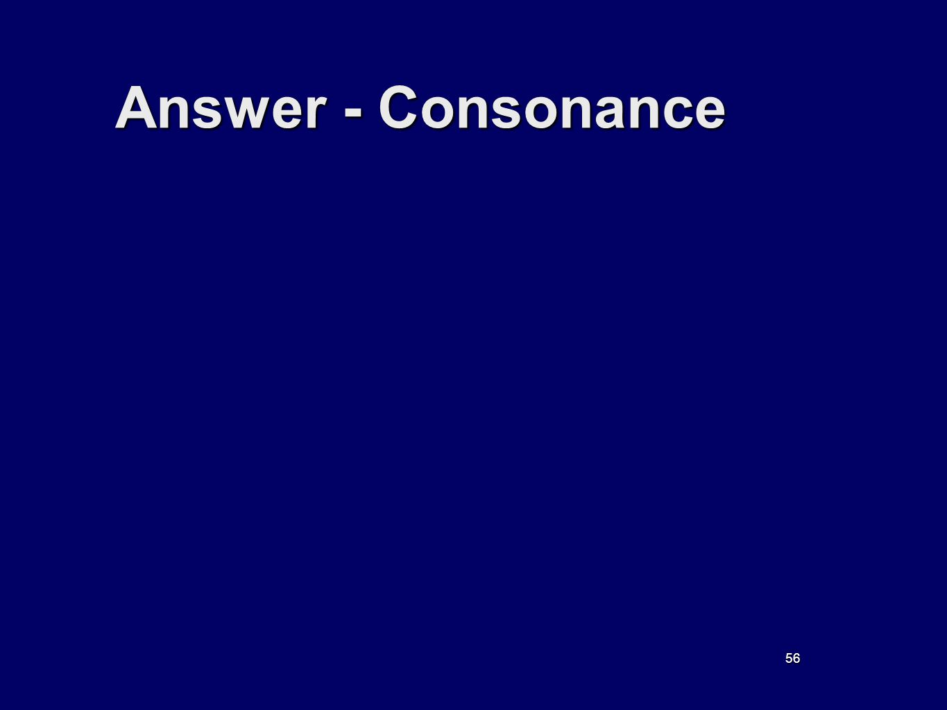 56 Answer - Consonance