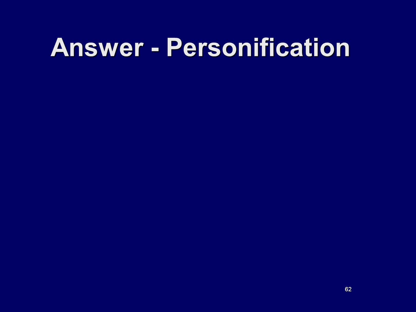 62 Answer - Personification