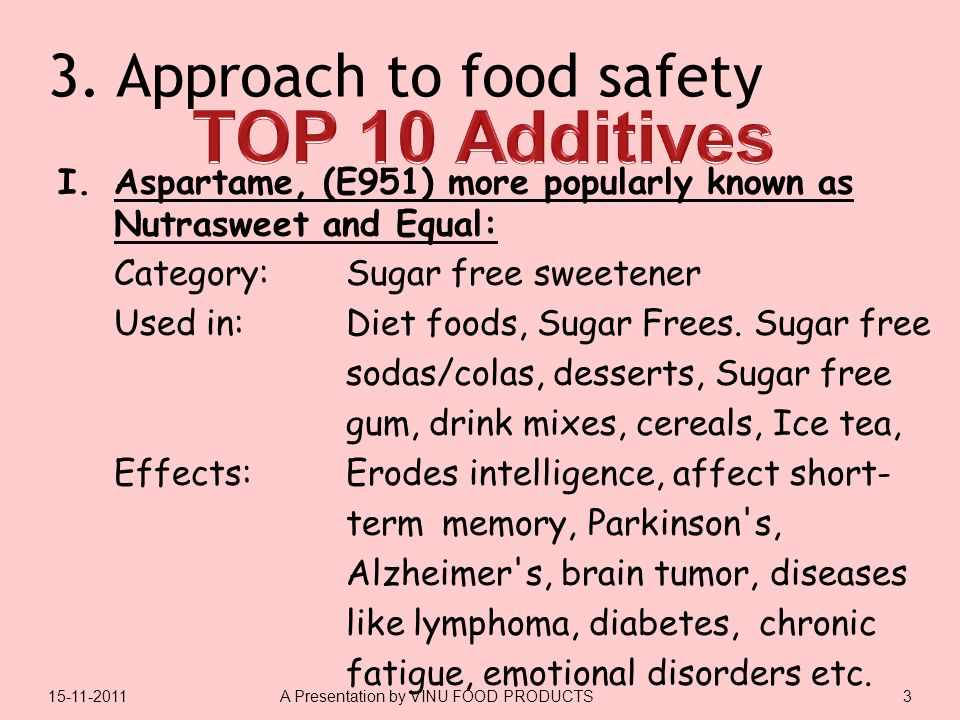 3.Approach to food safety I.