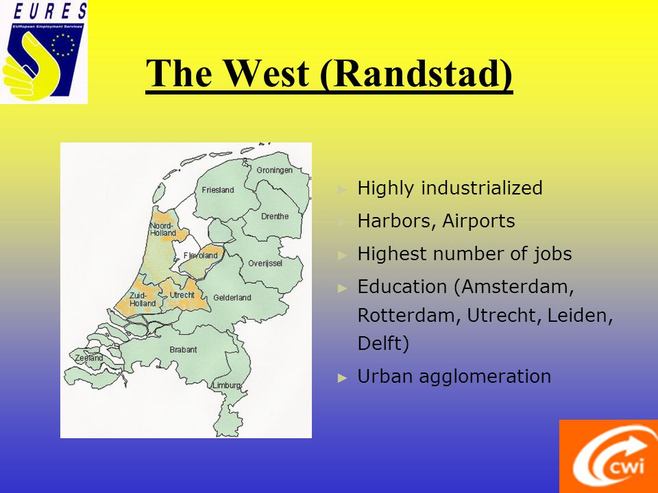 The South Rural Industry in Brabant Administration Construction Tourism Education (Maastricht) Transport Retail Care