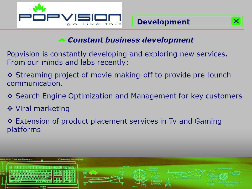 Popvision is constantly developing and exploring new services.