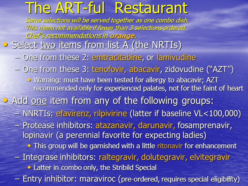 The ART-ful Restaurant Some selections will be served together as one combo dish.