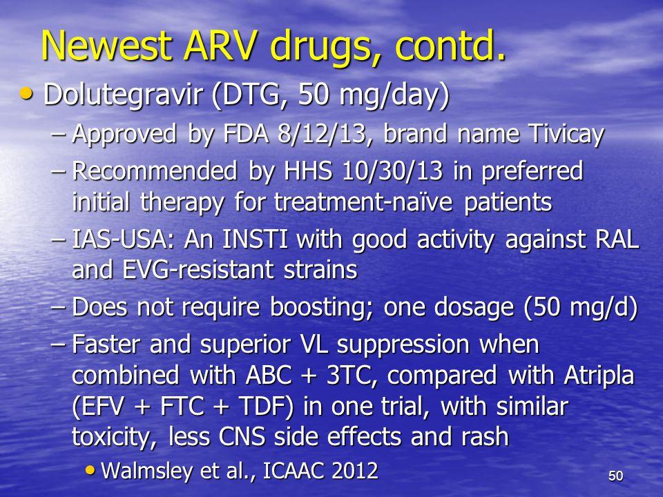 Newest ARV drugs, contd.