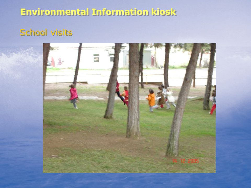 Environmental Information kiosk School visits