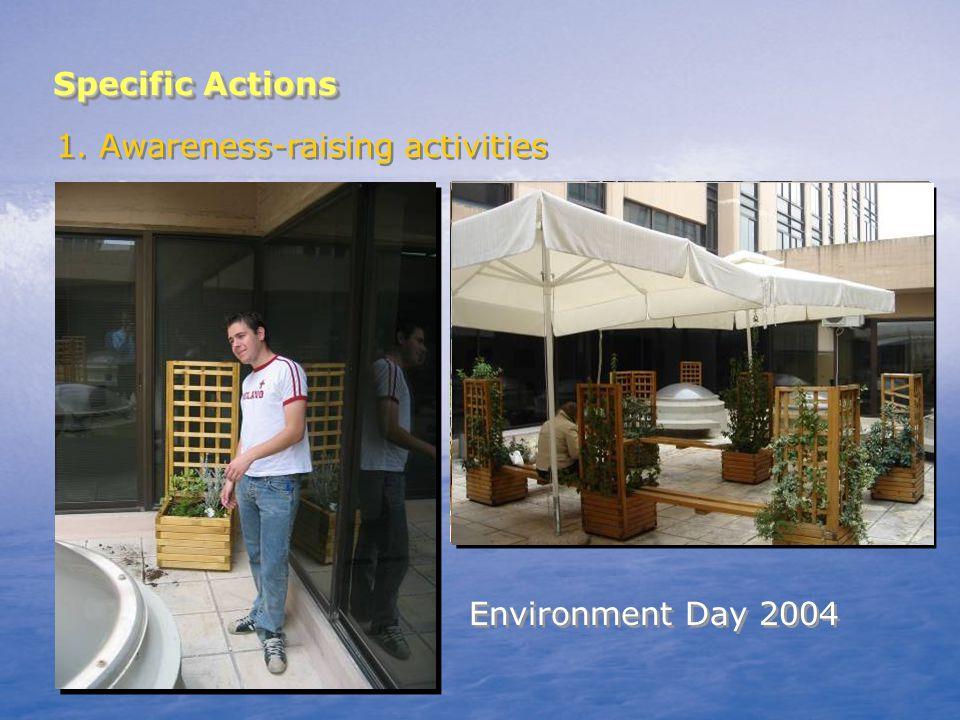 Specific Actions 1. Awareness-raising activities