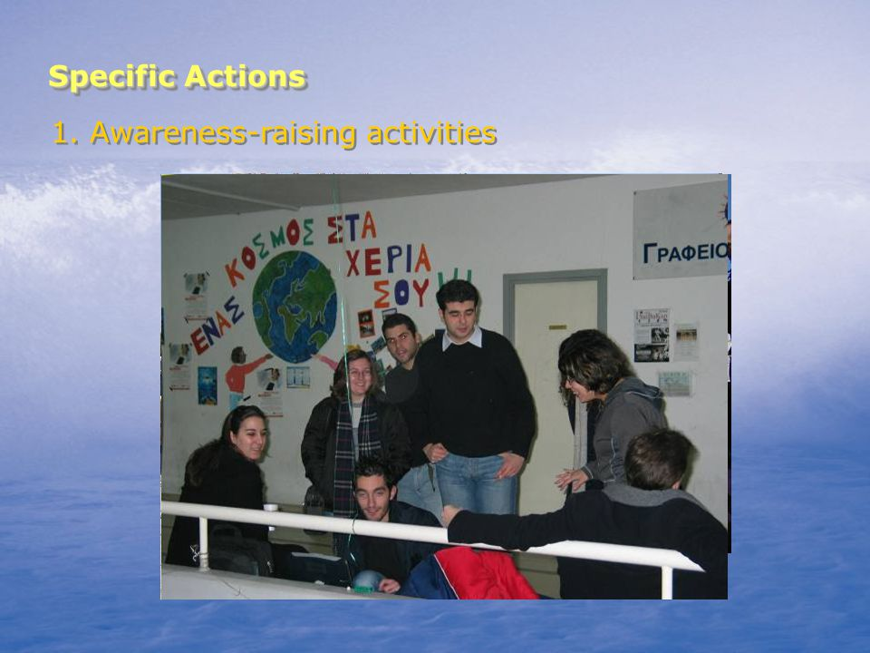 Specific Actions 2. Environmental education for students (10h program)