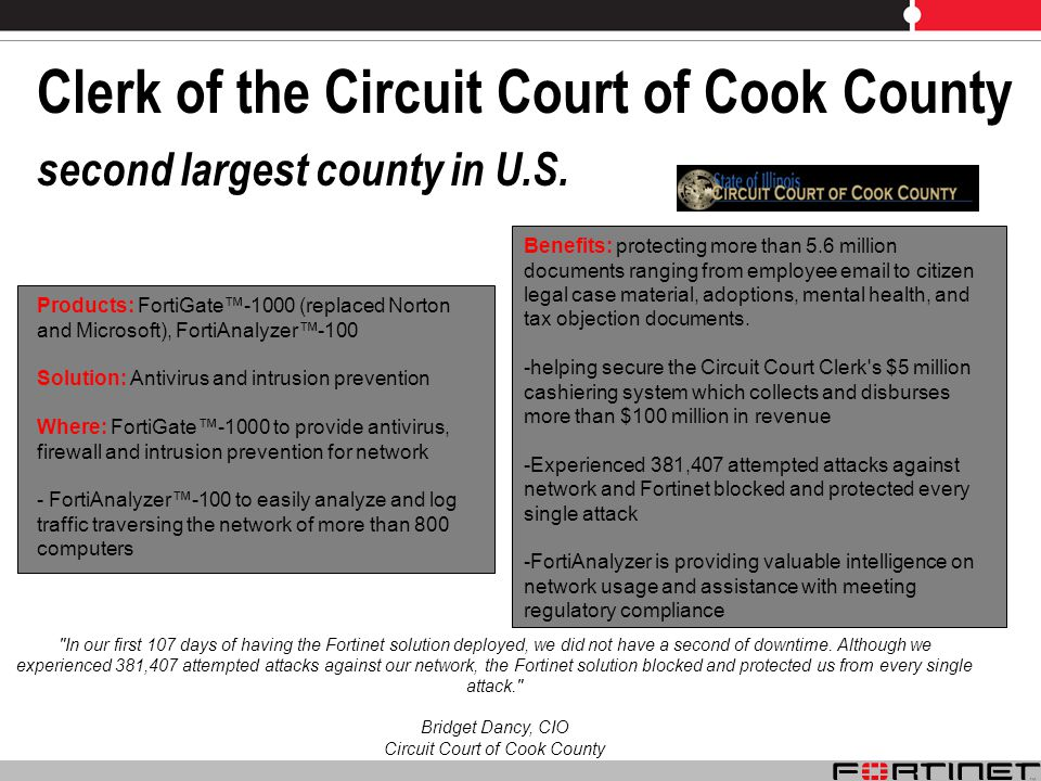 Clerk of the Circuit Court of Cook County second largest county in U.S.