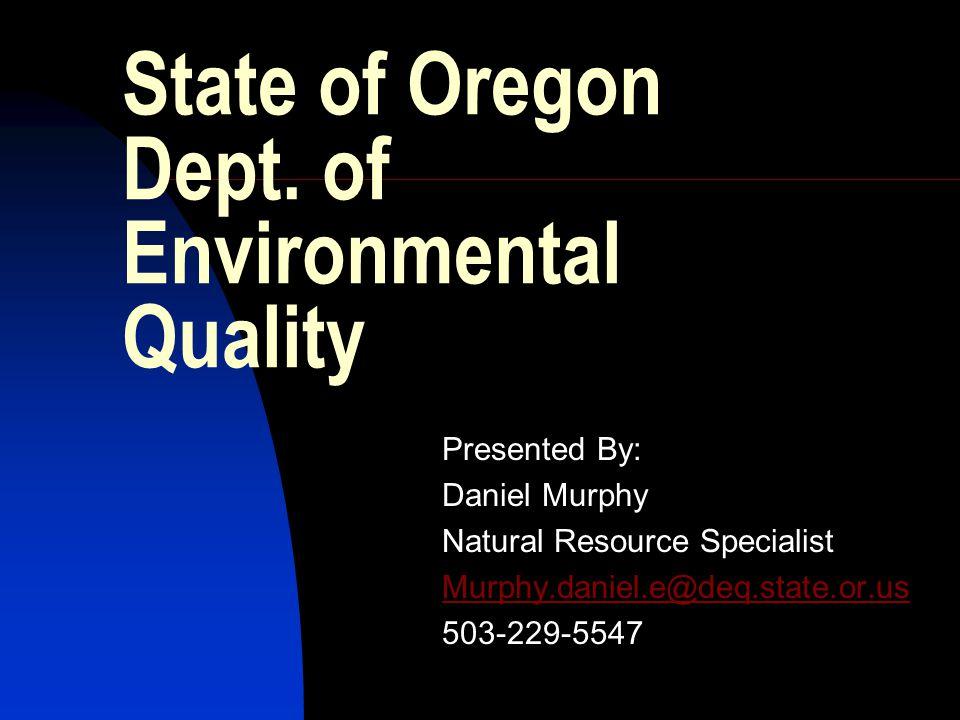 State of Oregon Dept.