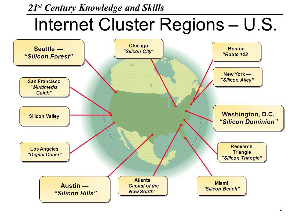 14 108319_Macros 21 st Century Knowledge and Skills Internet Cluster Regions – U.S.