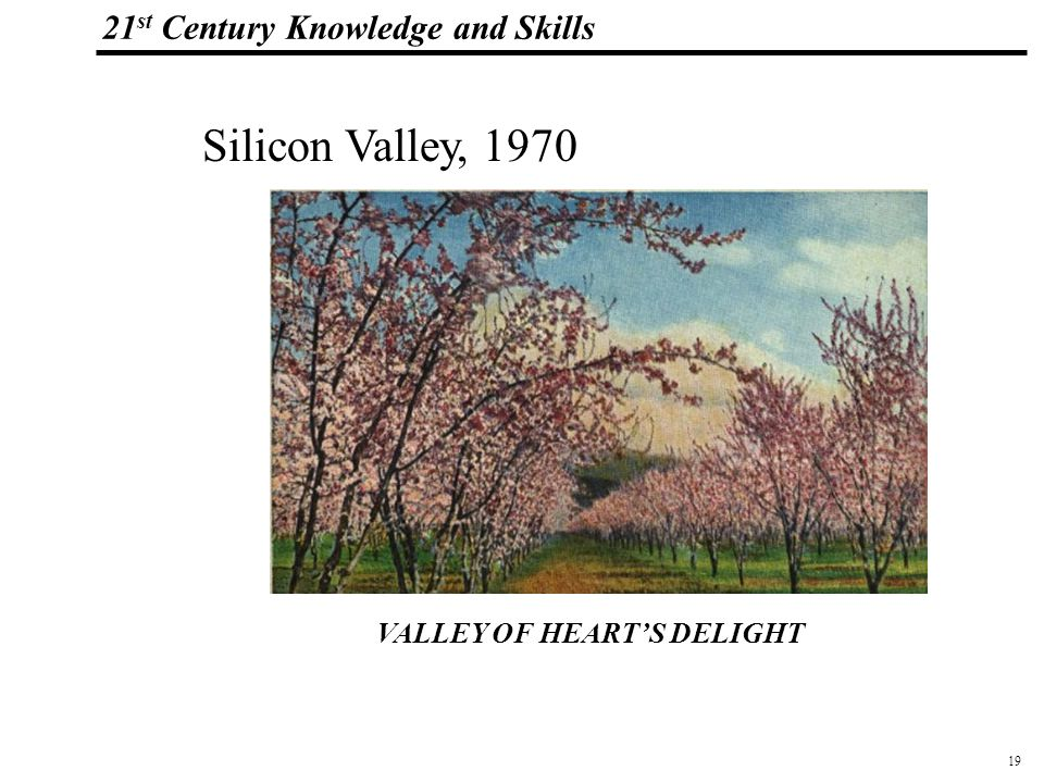 19 108319_Macros 21 st Century Knowledge and Skills VALLEY OF HEARTS DELIGHT Silicon Valley, 1970