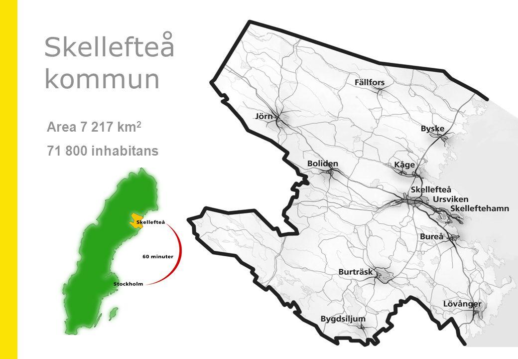 Area 7 217 km 2 71 800 inhabitans Skellefteå kommun