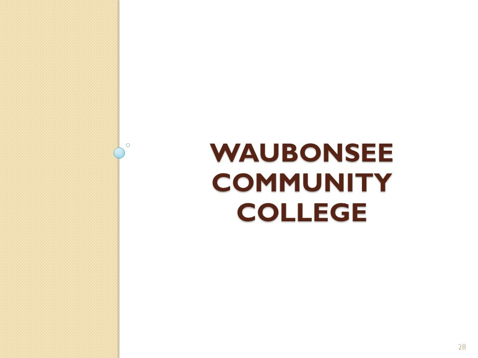 WAUBONSEE COMMUNITY COLLEGE 28
