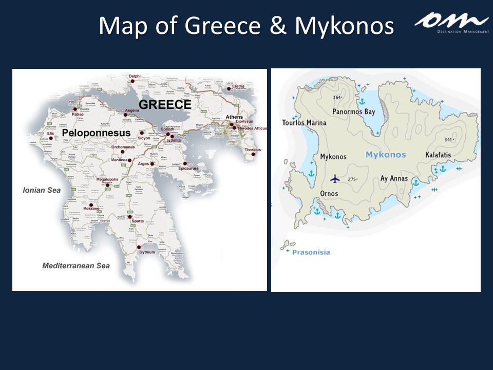 Map of Greece & Mykonos