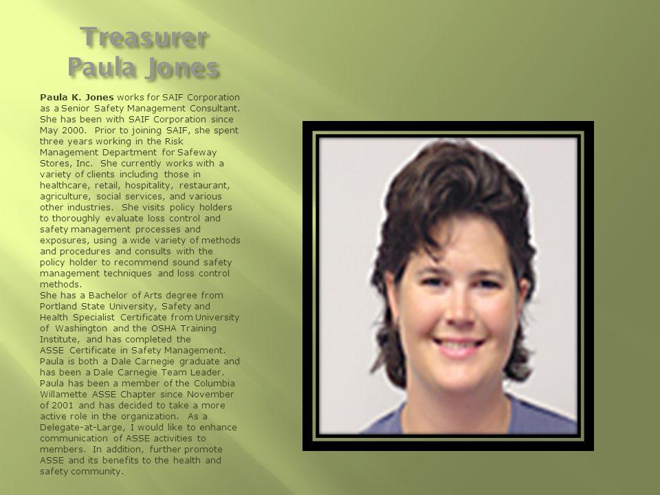 Treasurer Paula Jones Paula K.