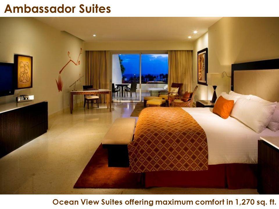 Ambassador Suites Ocean View Suites offering maximum comfort in 1,270 sq. ft.