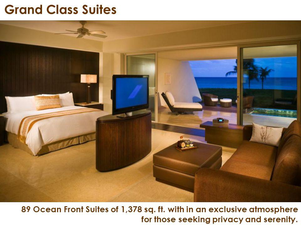 89 Ocean Front Suites of 1,378 sq. ft.