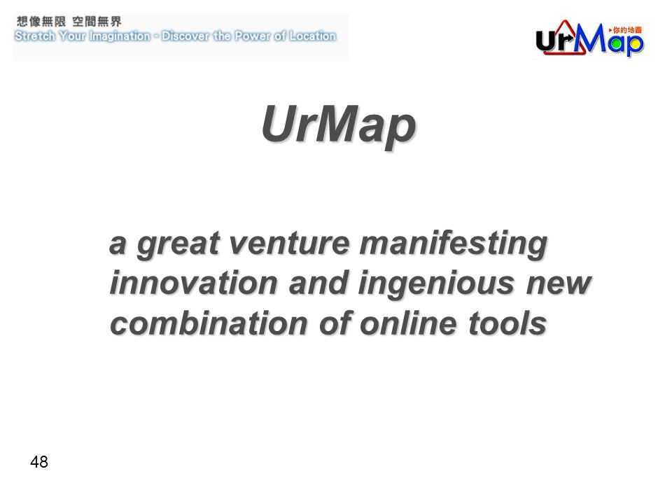 48 UrMap a great venture manifesting innovation and ingenious new combination of online tools a great venture manifesting innovation and ingenious new combination of online tools