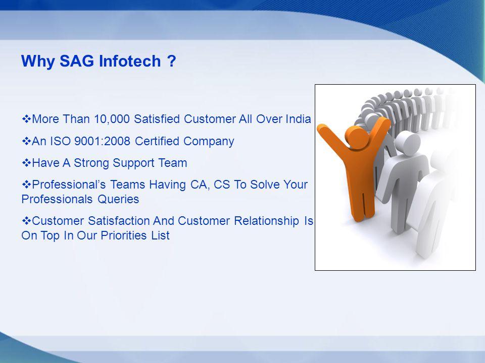 Why SAG Infotech .