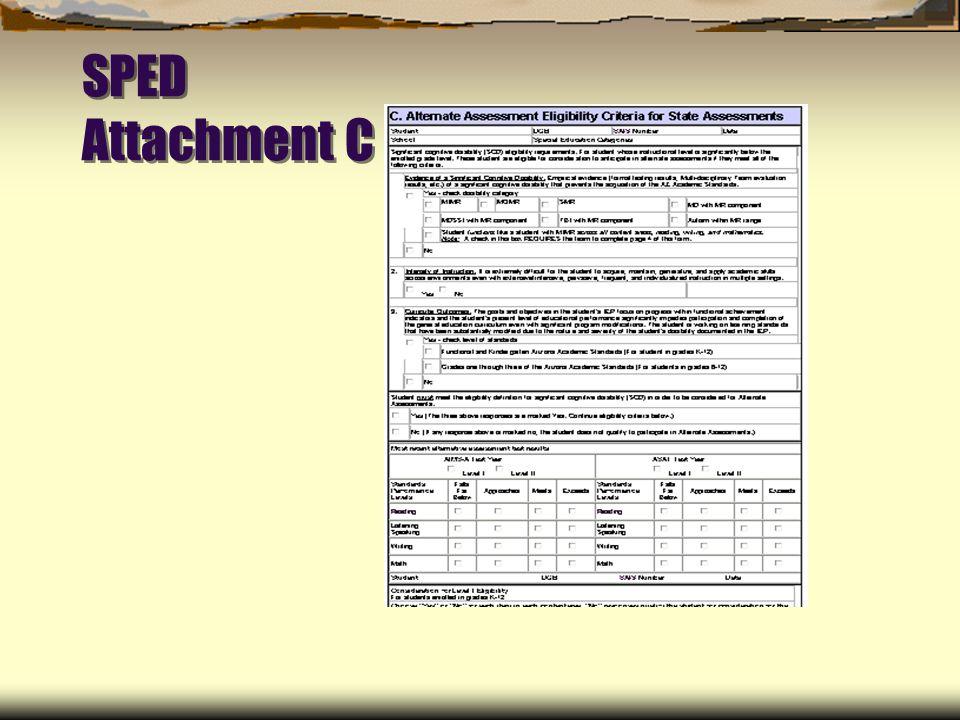 SPED Attachment C