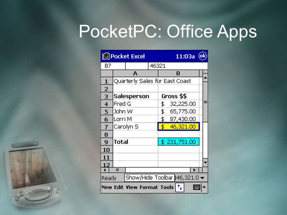 PocketPC: Office Apps
