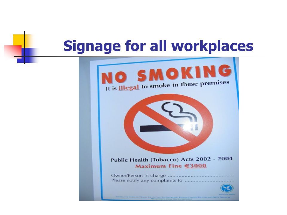 Signage for all workplaces