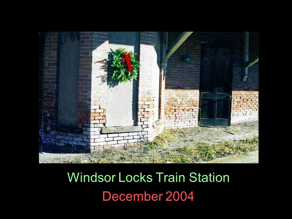 Windsor Locks Train Station December 2004