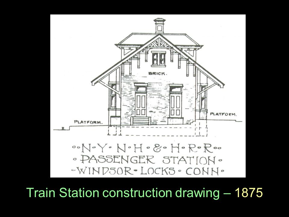 Train Station construction drawing – 1875