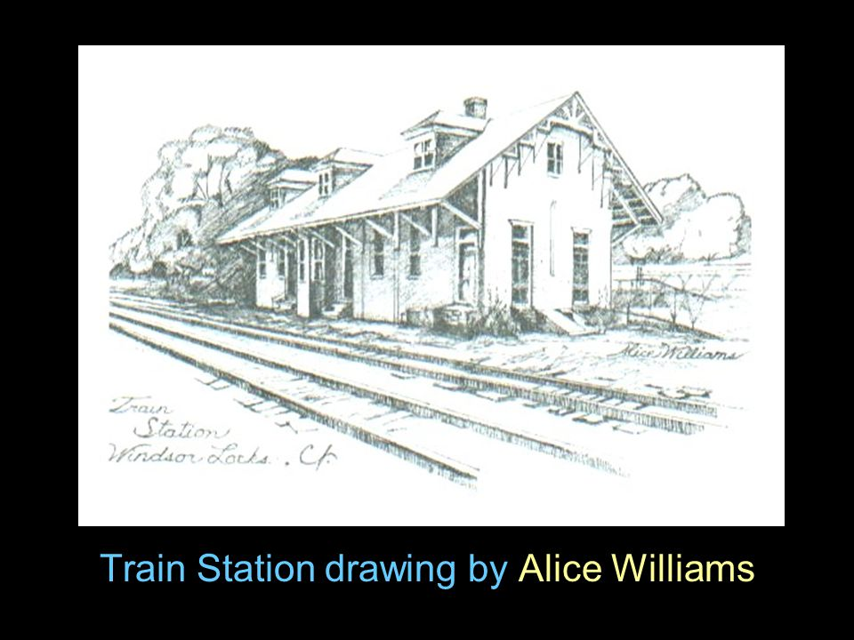 Train Station drawing by Alice Williams