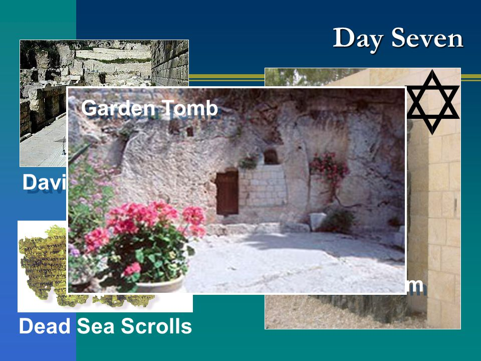 Yad Vashem Davidson Center Dead Sea Scrolls Garden Tomb Day Seven