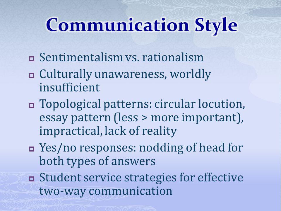 Sentimentalism vs.