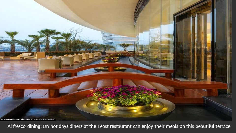 Ultra modern: The Sheraton Huzhou's Feast Signature restaurant, where guests can enjoy classic dishes from an international menu in luxurious surround