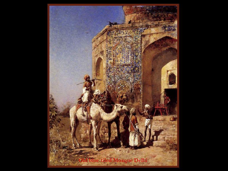 Old blue tiled Mosque Delhi