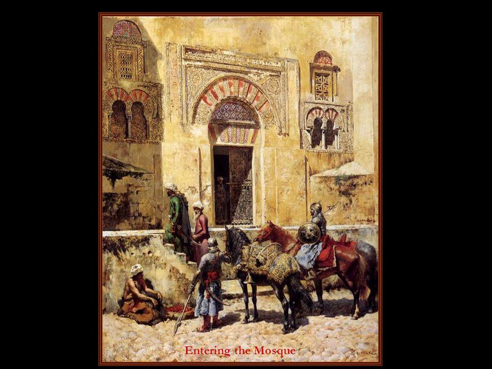 Girl in a Moorish courtyard