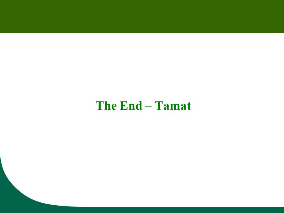 The End – Tamat