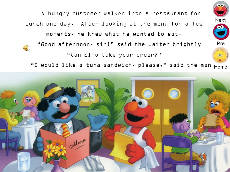 Can Elmo Take Your Order Next End
