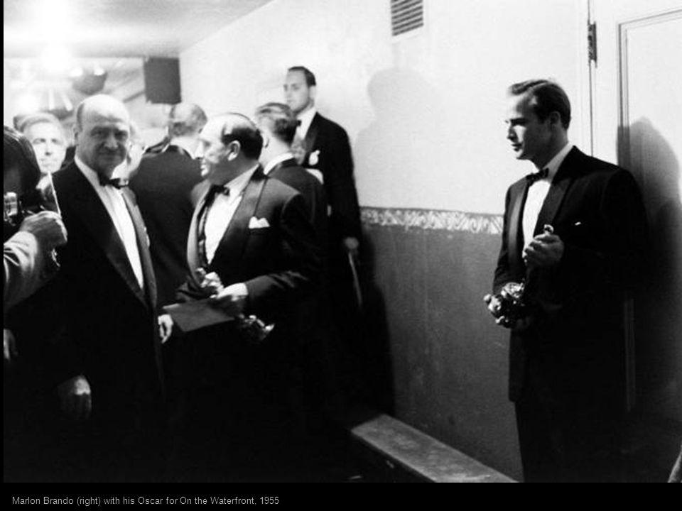 Academy Award-winner Olivia de Havilland (The Heiress) and dapper presenter Jimmy Stewart at the 22nd Academy Awards, 1949