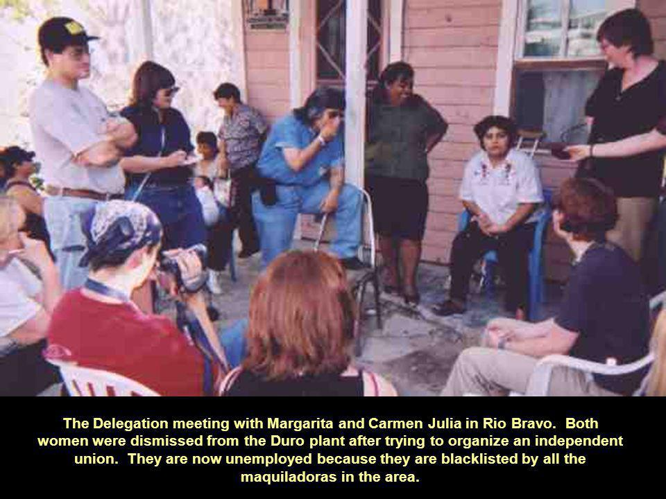 The Delegation meeting with Margarita and Carmen Julia in Rio Bravo.