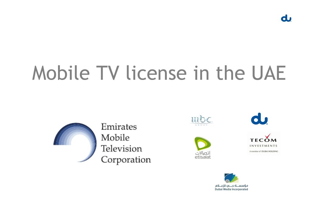 Mobile TV license in the UAE