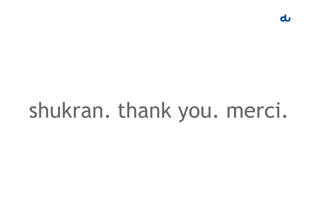 shukran. thank you. merci.